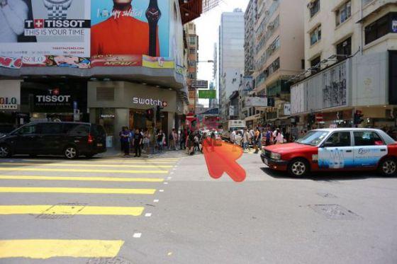 4. 過馬路後一直向前走